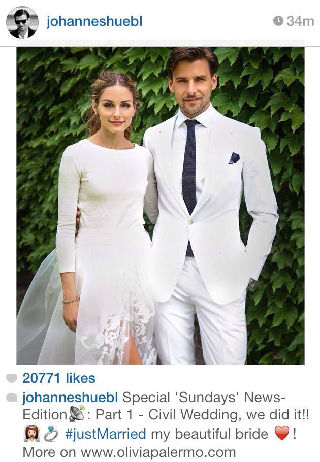 Olivia Palermo Marries And The Bride Wore Celebrity Wedding Dresses Wedding Dress Long Sleeve Two Piece Wedding Dress