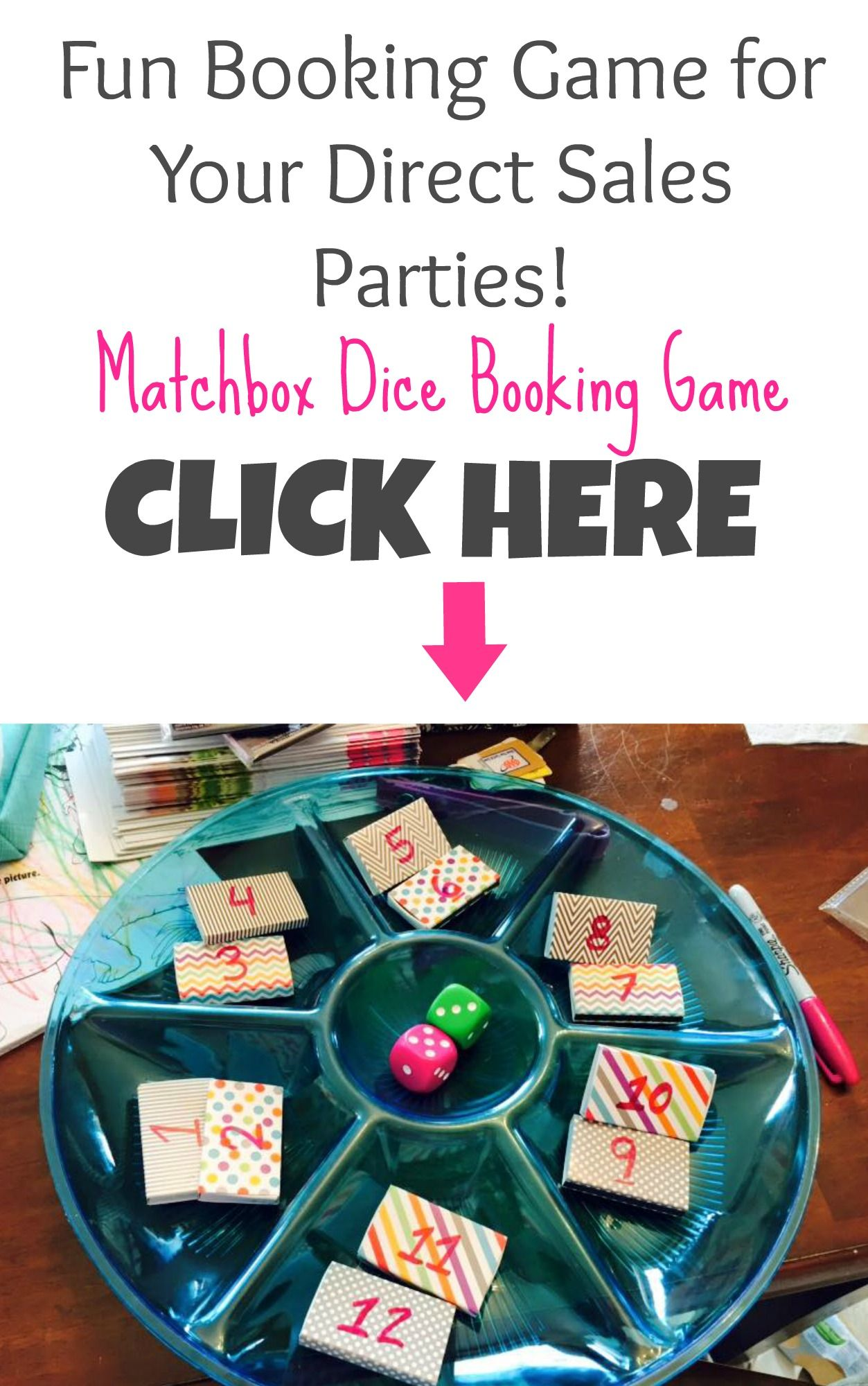 Matchbox Dice Booking Game for Your Direct Sales Parties