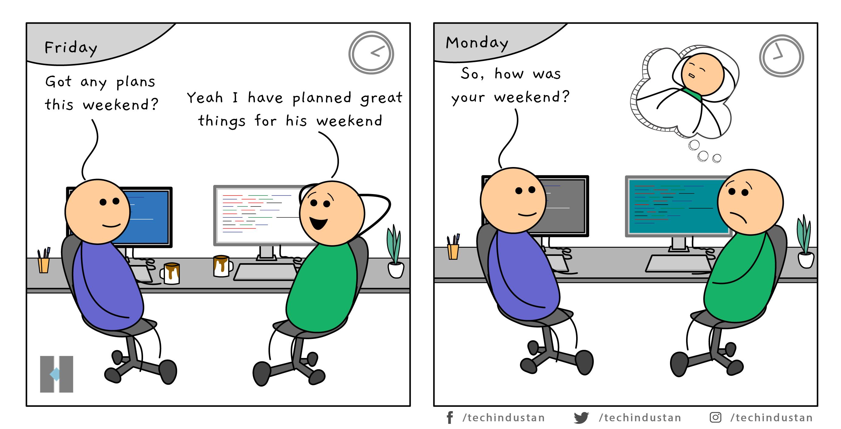 Weekend plan vs reality. How was your weekend? Weekend