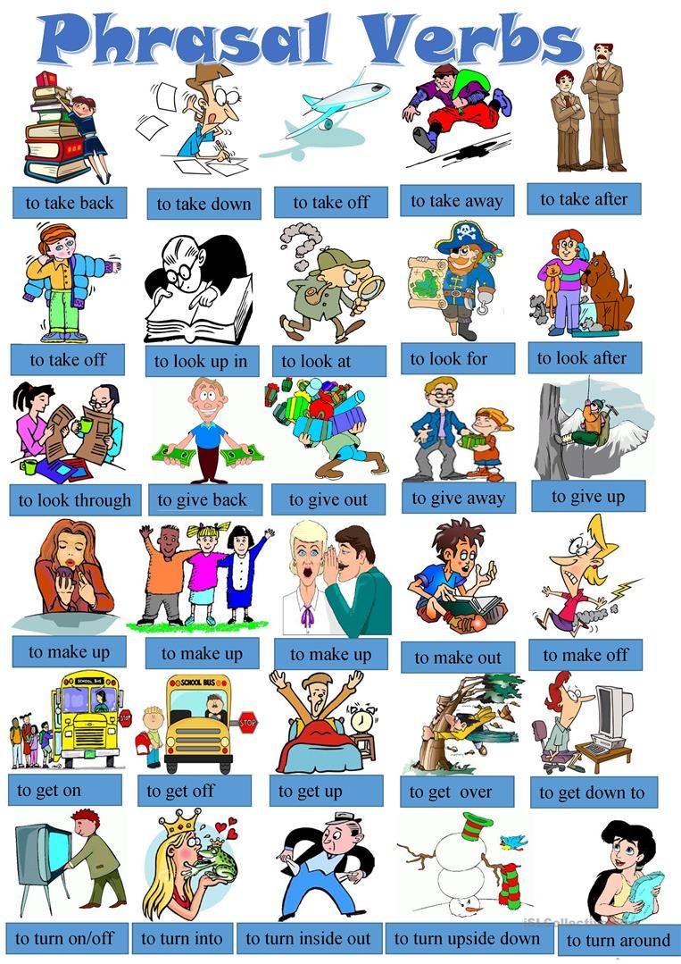 Phrasal Verbs Pictionary Worksheet Free Esl Printable Worksheets Made By Teachers English Verbs English Idioms English Vocabulary [ 1079 x 763 Pixel ]