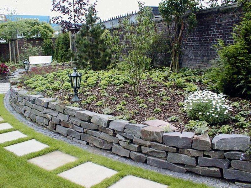 steinmauer als blickfang und sichtschutz im garten – 40 ideen, Gartenarbeit ideen