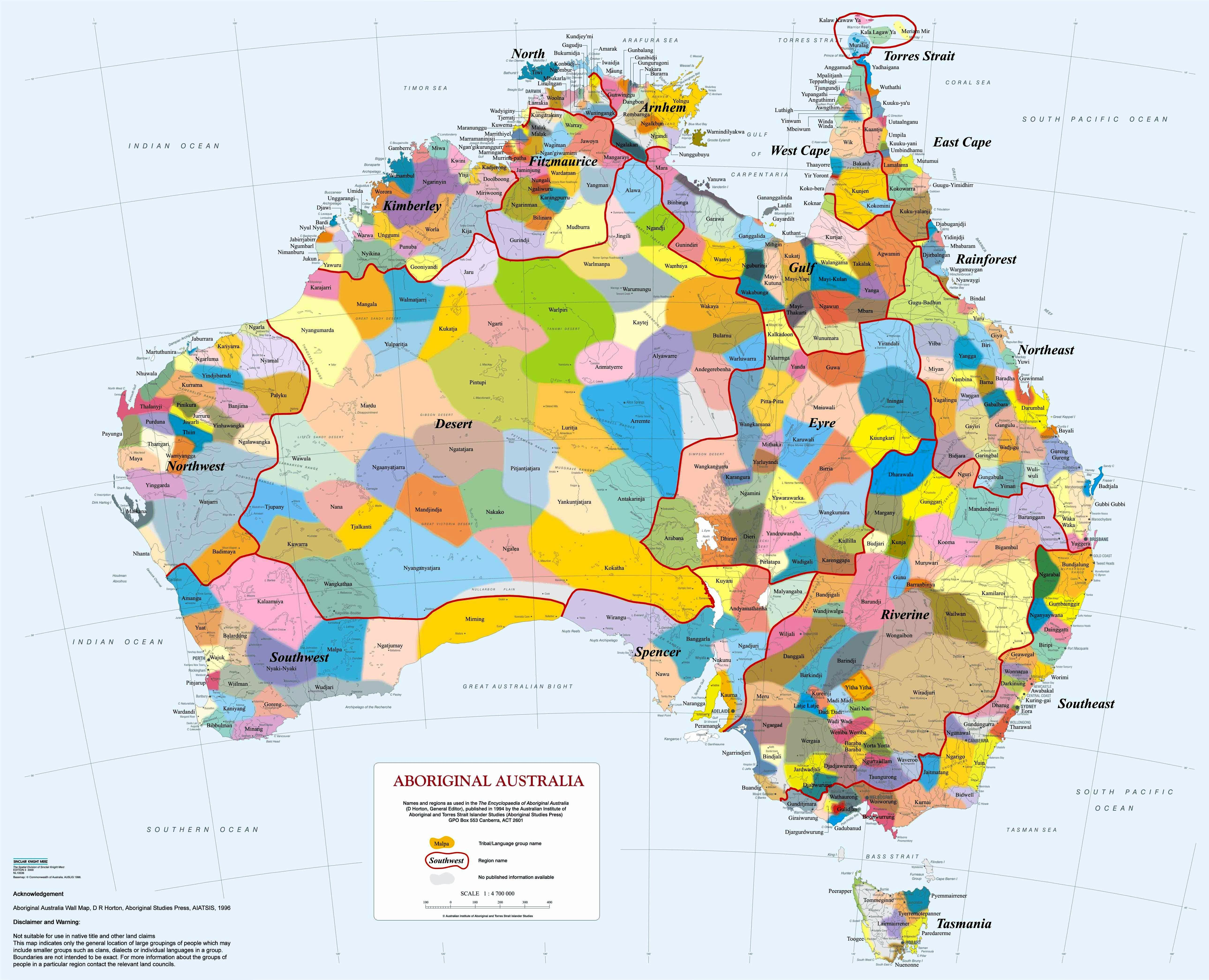 Aiatsis map of indigenous australia by david r horton