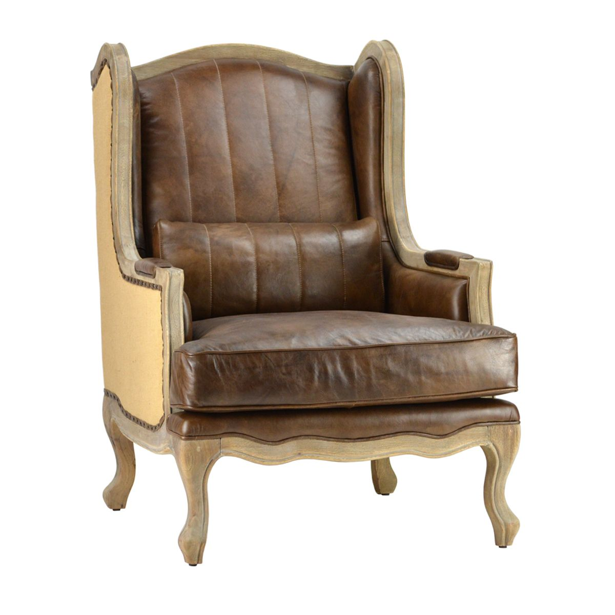 Nailhead Leather Dining Room Chairs