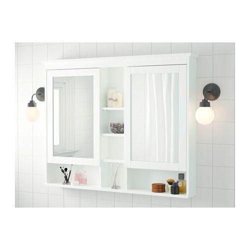 Hemnes Spiegelschrank 2 Turen Schwarzbraun Gebeizt Ikea