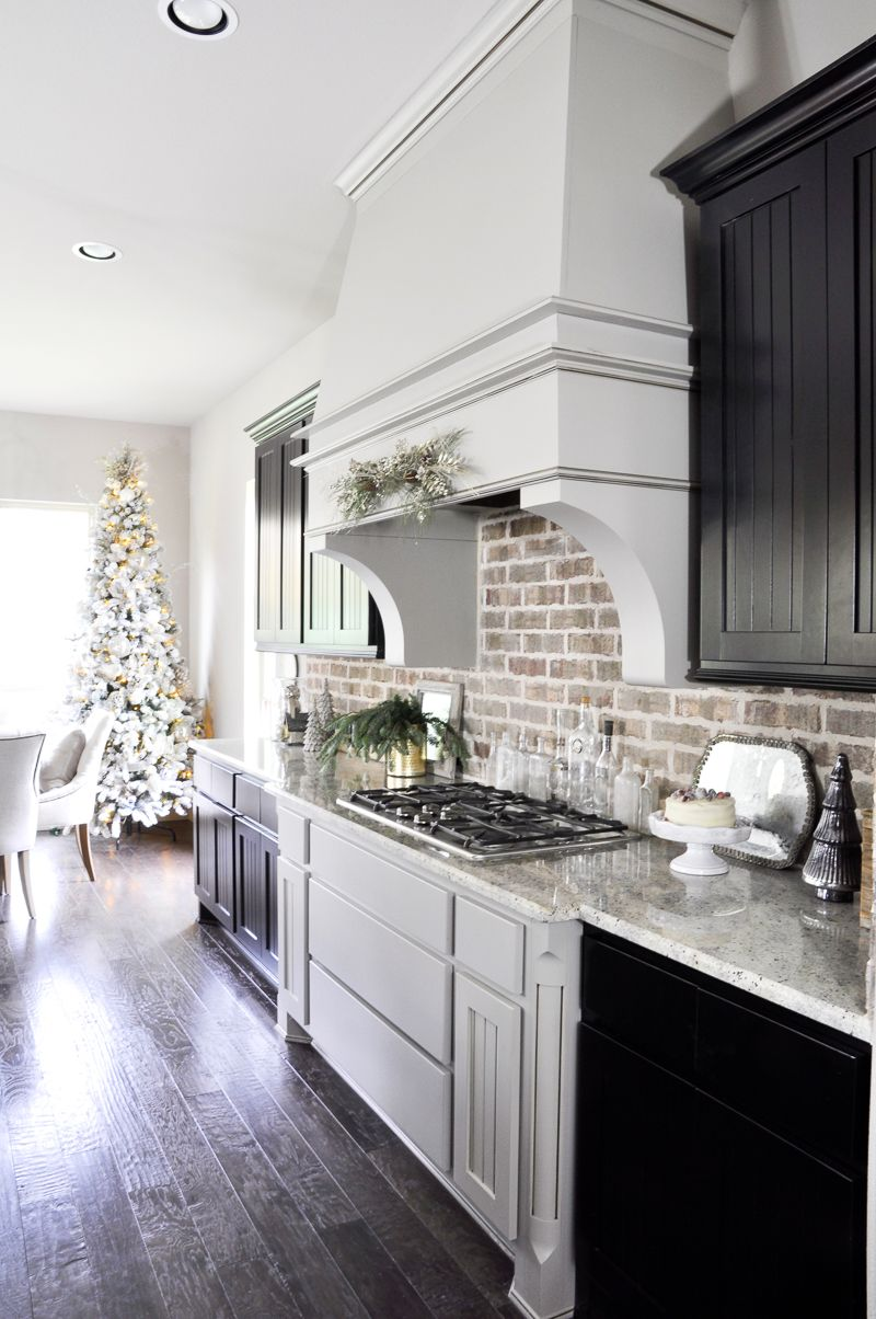 Inside Our Vintage Modern Style Holiday Kitchen Kitchen Remodel Countertops White Marble Countertops Light Blue Kitchens