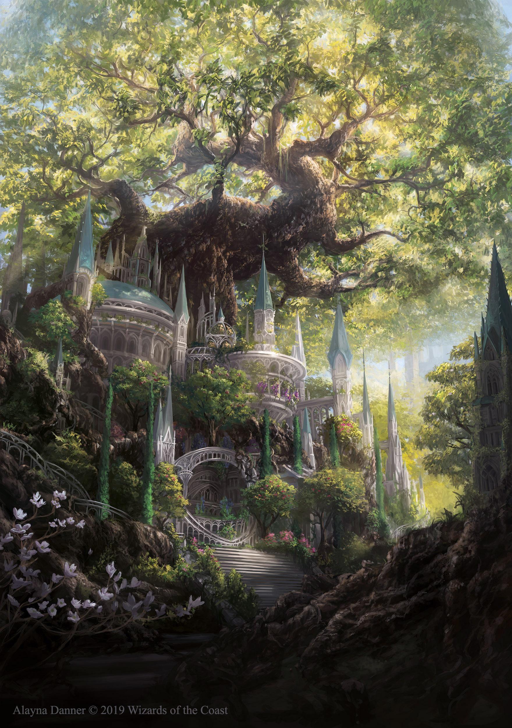 Art Temple Garden Mtgo Promo Magictcg Fantasy Artwork