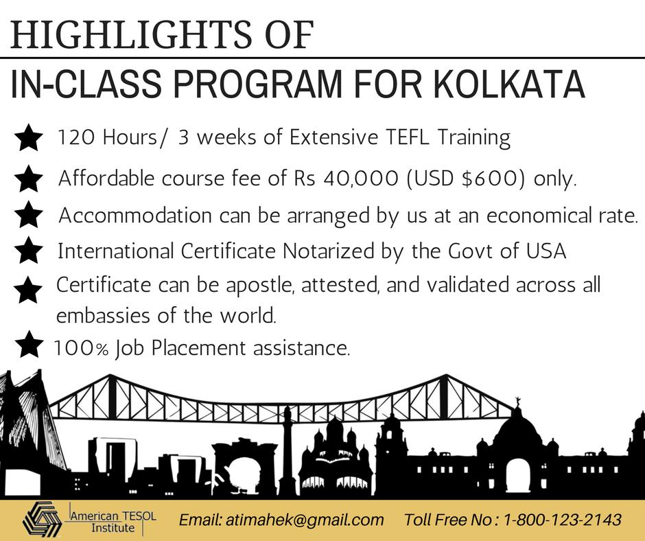 Highlights Of In Class Program In Kolkata Americantesolindia Ati