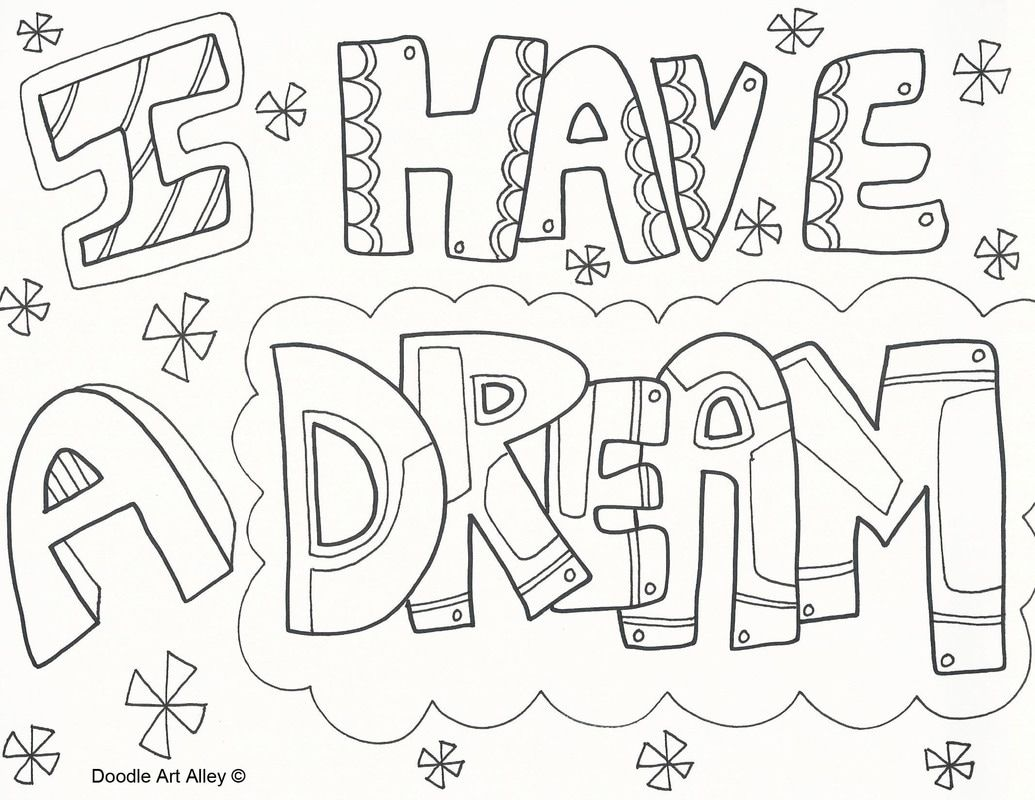 Martin Luther King Jr Coloring Pages Doodle Art Alley Martin