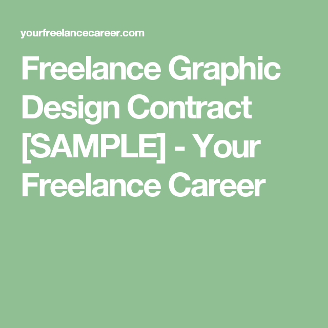 Freelance Graphic Design Contract Sample  Your Freelance Career