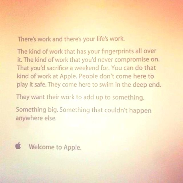 Apple S Welcome Letter For New Employees Welcome Letter Notes Inspiration New Hires