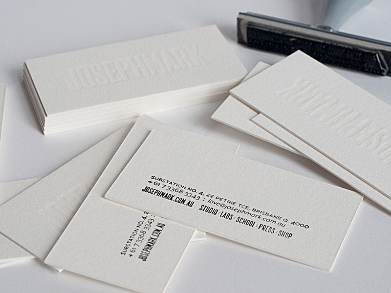 Business card printed with white ink for a great blind impression business card printed with white ink for a great blind impression the ever changing colourmoves Gallery