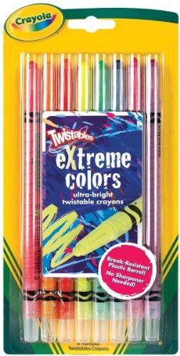 Bulk Buy Crayola Twistables Extreme Crayons 8 Pkg Bright Neon 3
