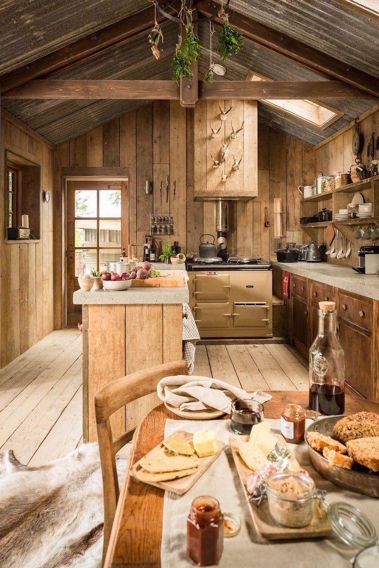95 Amazing Rustic Kitchen Design Ideas Rustic Kitchen Design Cabin Kitchens Log Cabin Kitchens
