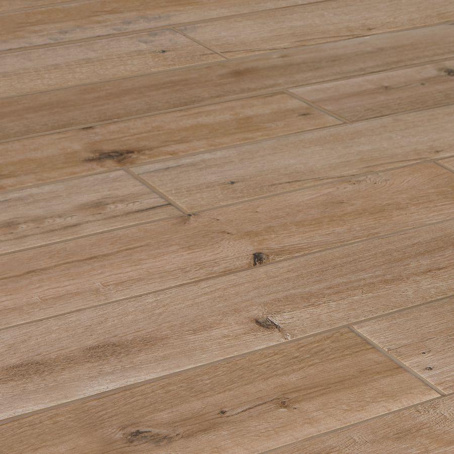 American Olean Woodstory Natural Oak Wood Look Porcelain Floor And