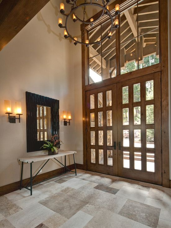 Elegant Double Front Doors elegant entryway photo in other with a double front door, a glass