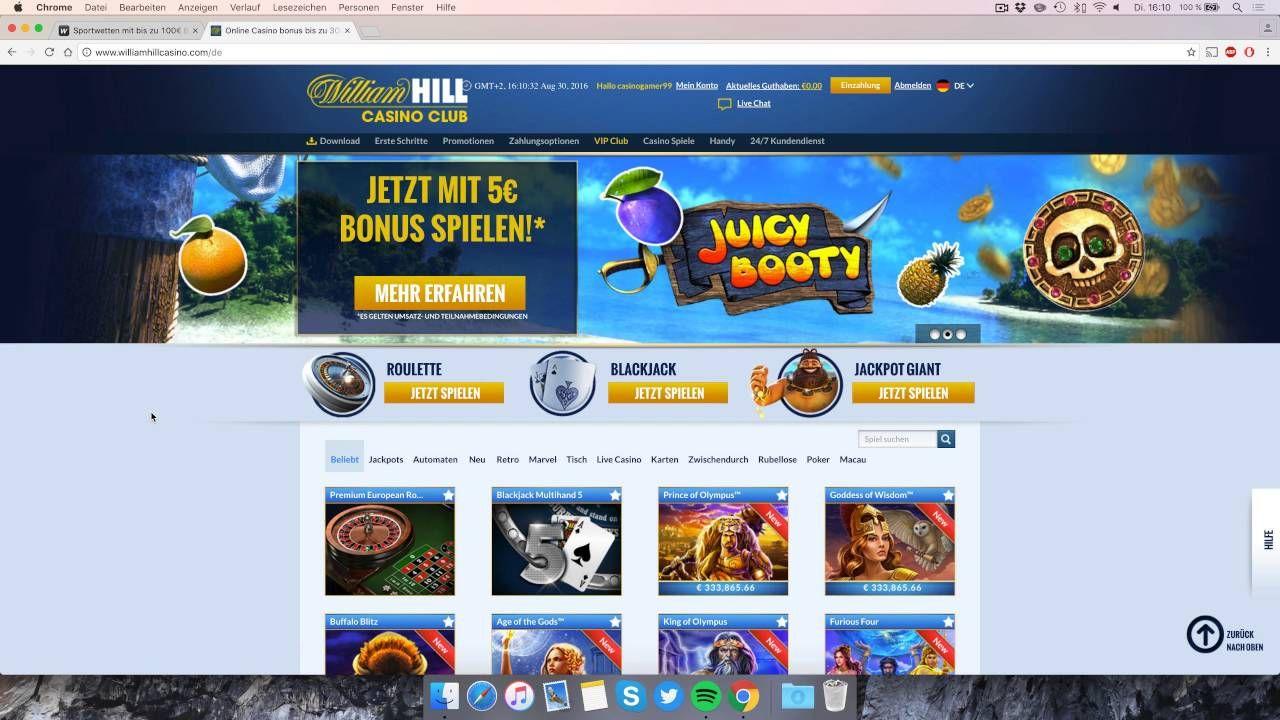 William Hill Casino Club Bonus