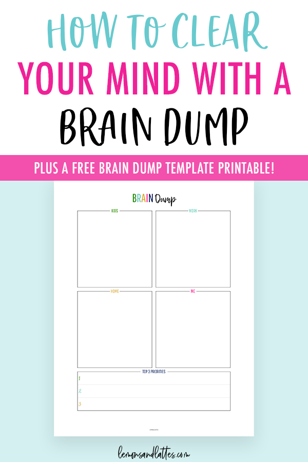 image regarding Brain Dump Worksheet identify Absolutely free Mind Dump Template/Worksheet + How in direction of Apparent Your Thoughts