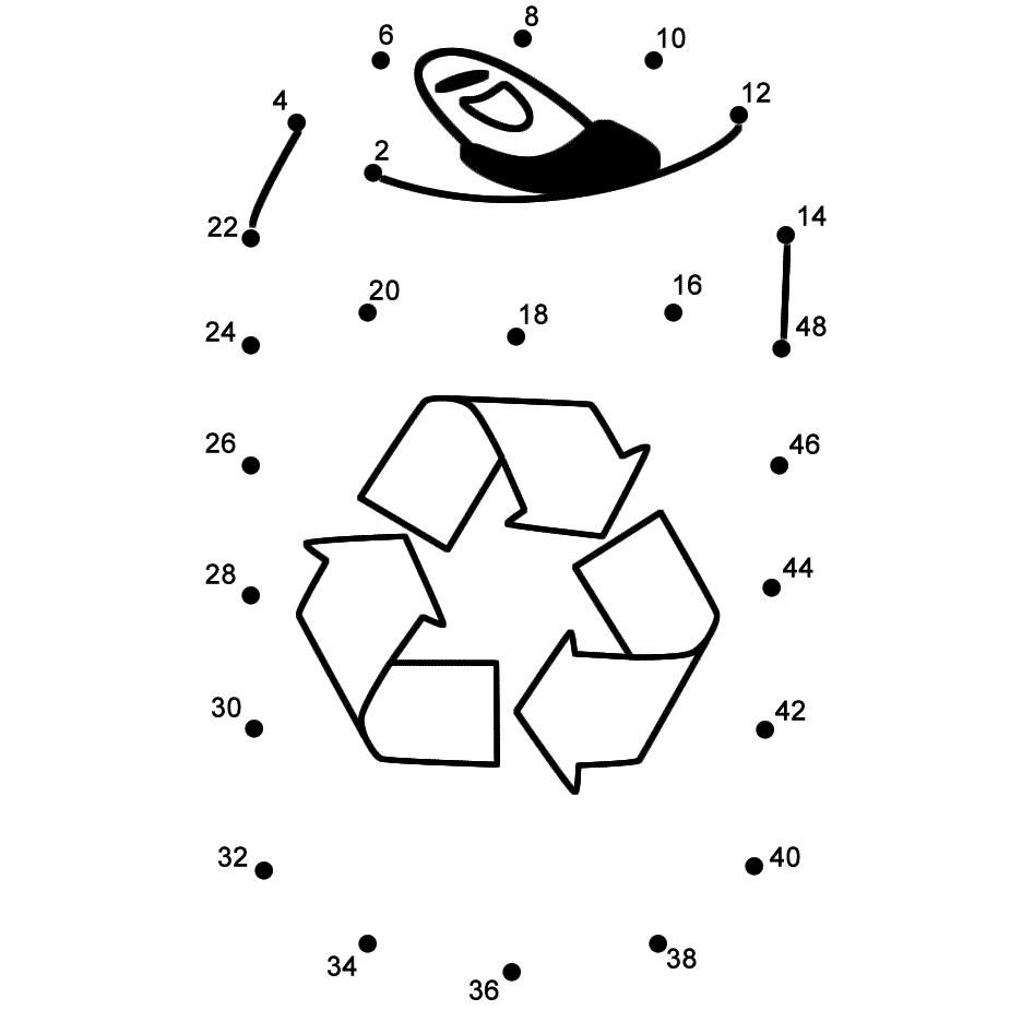 Drink Tin To Recycle Connect The Dots Count By 2 S Earth Day Connect The Dots Earth Day Dot To Dot Puzzles