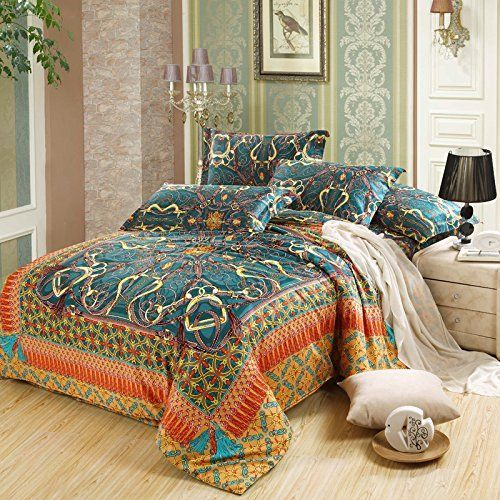 Cliab Moroccan Bedding Bohemian Sets Full Queen Egyptian Cotton Duvet Cover Set