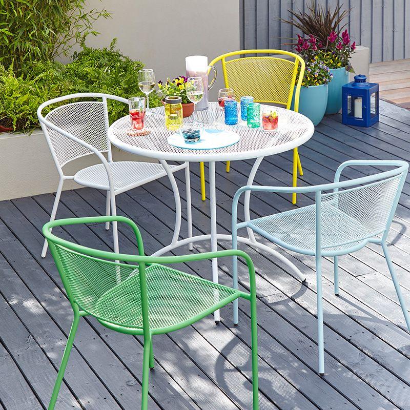 Steel Mesh Chair In Yellow - Dobbies Garden Centres   Cool ...