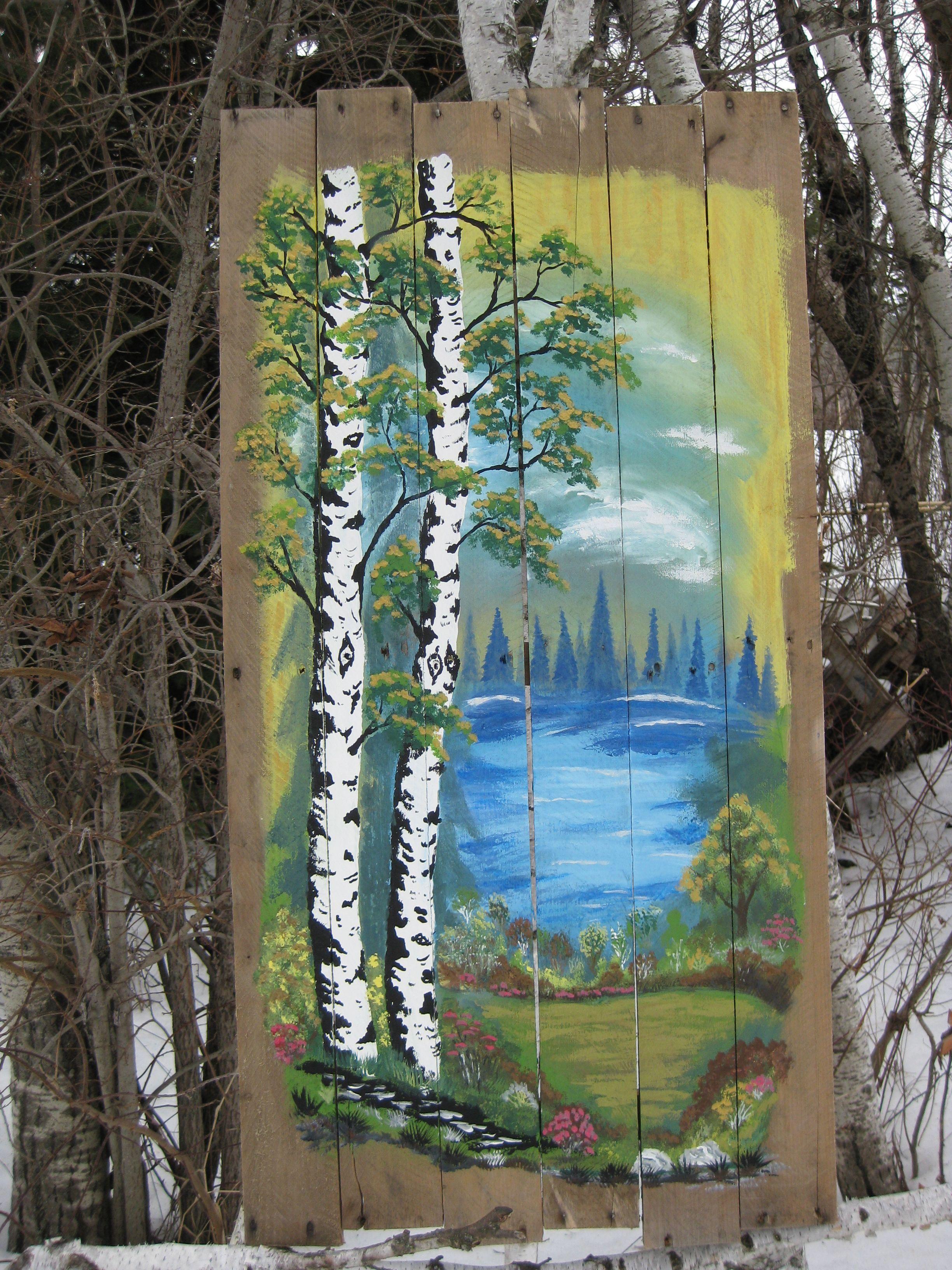 Pallet Painting Feb/17 painted by : Dennis Rawluk | Pallet ...