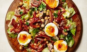 Sardine, chickpea and harissa salad.
