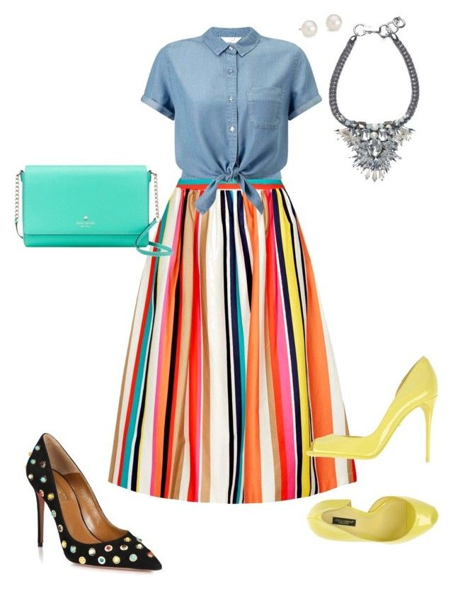 """In Living Color!!!"" by la-harrell-styling-co on Polyvore featuring Alice + Olivia, Dolce&Gabbana, Miss Selfridge, Kate Spade, Blue Nile and Aquazzura"
