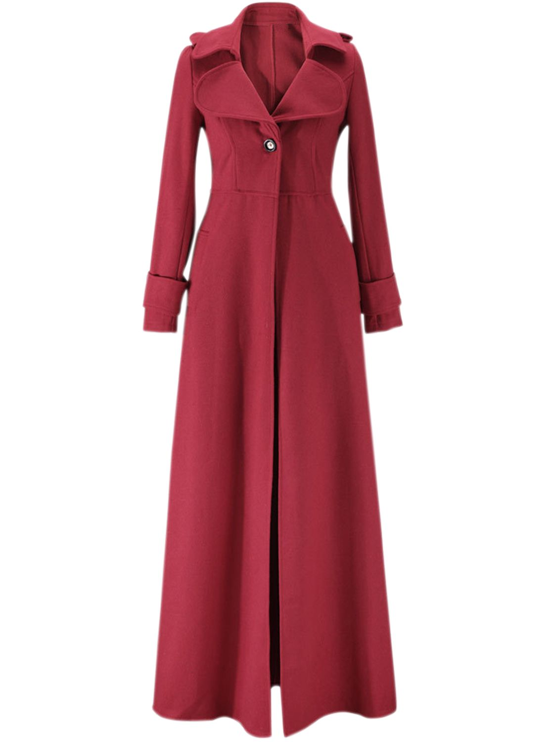 769a8222d3dd Fashion Long Sleeve Floor Length Long Trench Coat - OASAP.com in ...