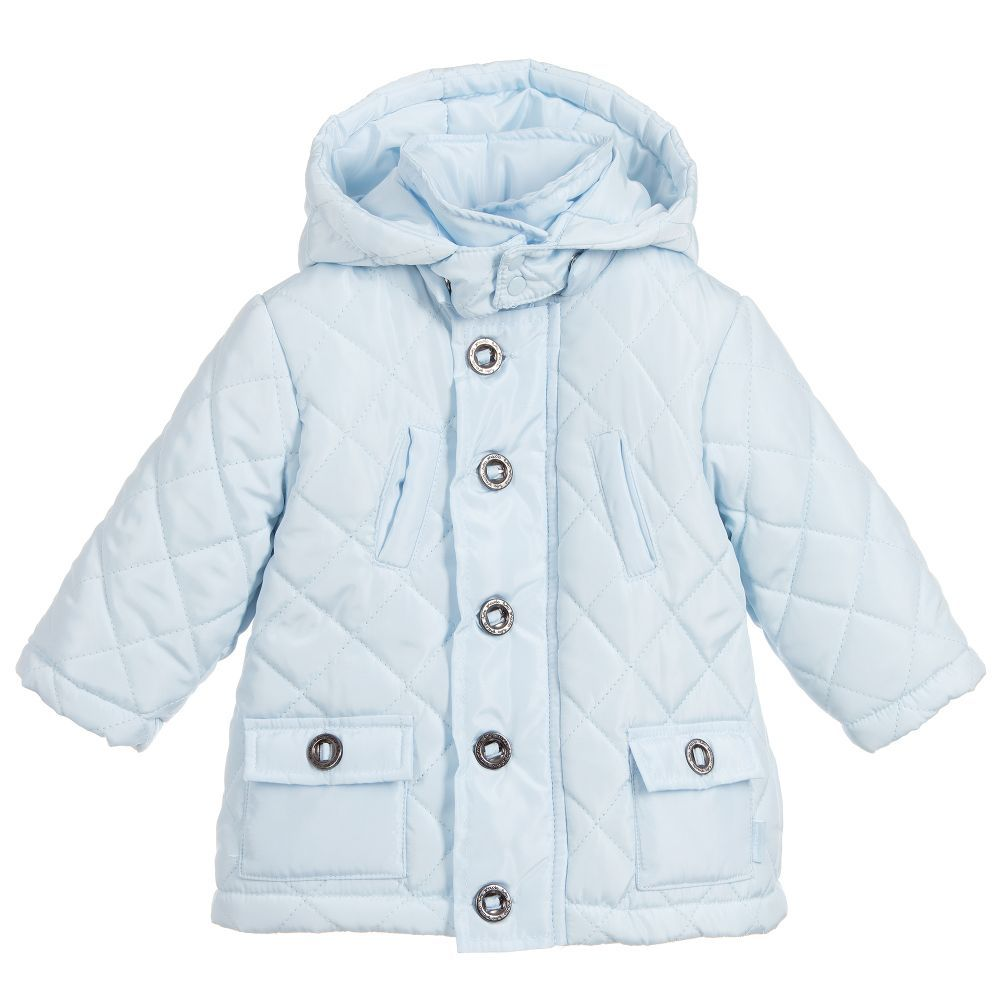 962260bb9010 Boys Pale Blue Quilted Coat for Boy by Tutto Piccolo. Discover the ...
