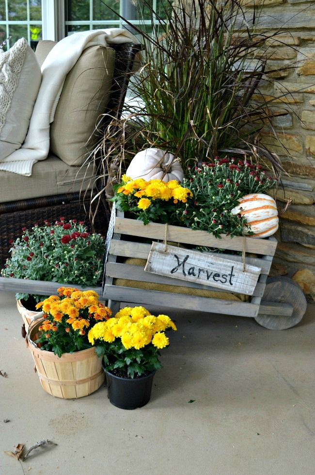 Building this rustic, industrial wheelbarrow, a pretty fall touch to the front porch. Learn to build your own at THD DIH Workshop near you. chatfieldcourt.com