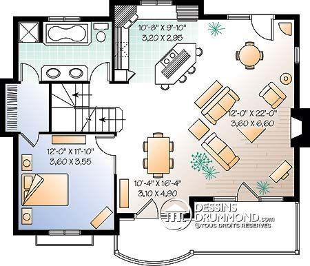 Plan de Maison unifamiliale W2955 Maison Pinterest Garage - plan de maison design
