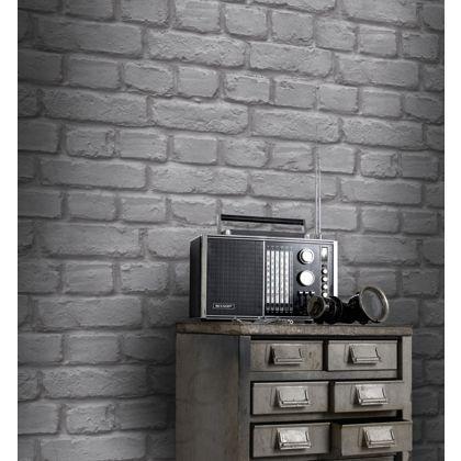 2604 21261 Light Grey Exposed Brick Texture Brickwork Wallpaper