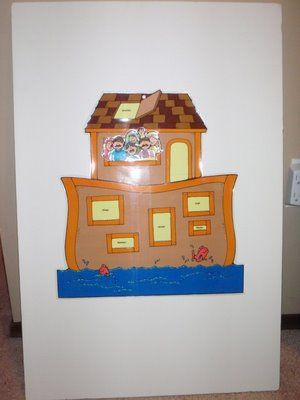Noah's Ark - kids each pick an animal (with song on back) and put in the ark. Great to use songs that go together as a theme - Follow the Prophet, Wise Man & Foolish Man, All Things Bright and Beautiful, My Heavenly Father Loves Me, etc