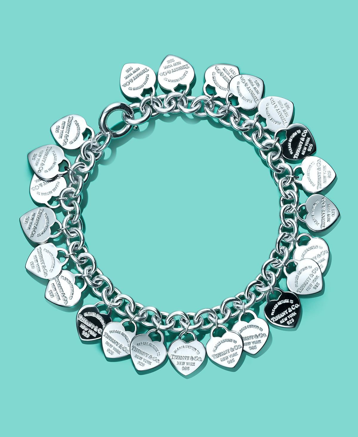 de1b5702f74f Return to Tiffany® multi-heart tag bracelet in sterling silver.