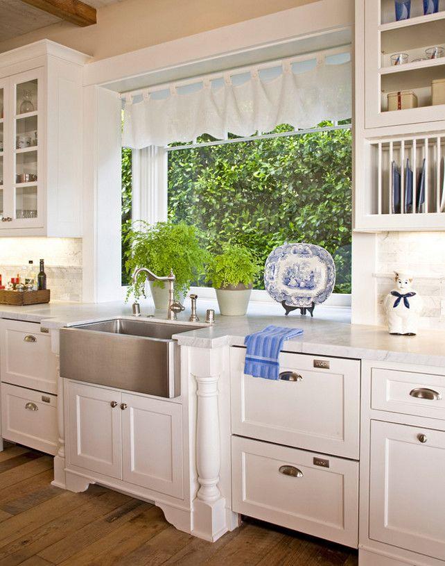 kitchen kitchen ideas kitchen with apron sink dishwasher drawer glass front cabinets - Colonial Kitchen Ideas