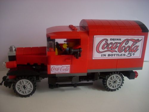 coca cola truck 1930 a lego creation by master builder lego modular town. Black Bedroom Furniture Sets. Home Design Ideas