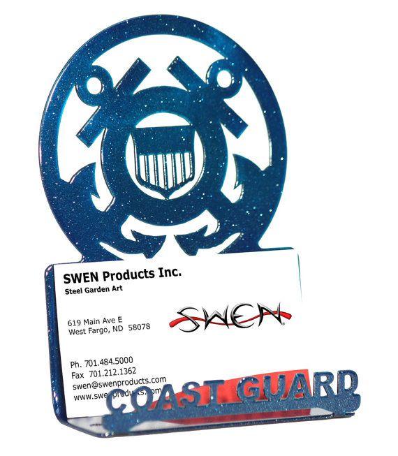 Armed Services Us Coast Guard Uscg Blue Metal Business Card Etsy Metal Business Cards Business Card Holders Us Coast Guard