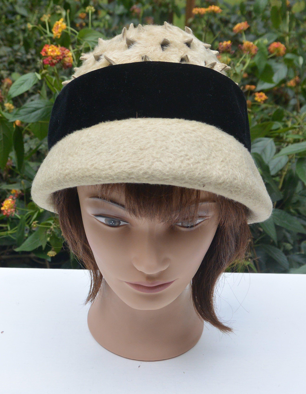d85bf52c5 Elsa Schiaparelli Cloche- Millinery Fabrics, Black Velvet Hat Band ...