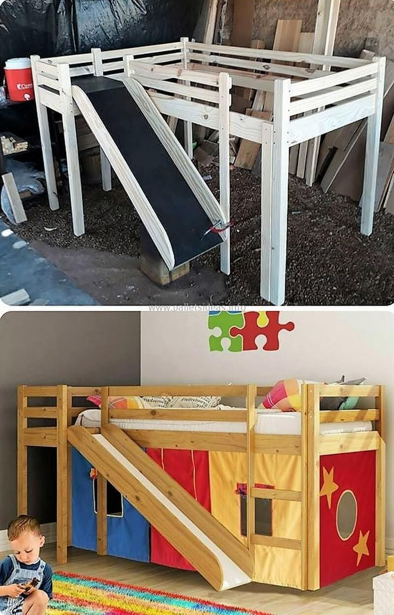 Plywood loft bed plans  Awesome Wood Pallet Repurposing And Reusing Ideas  Pallet kids