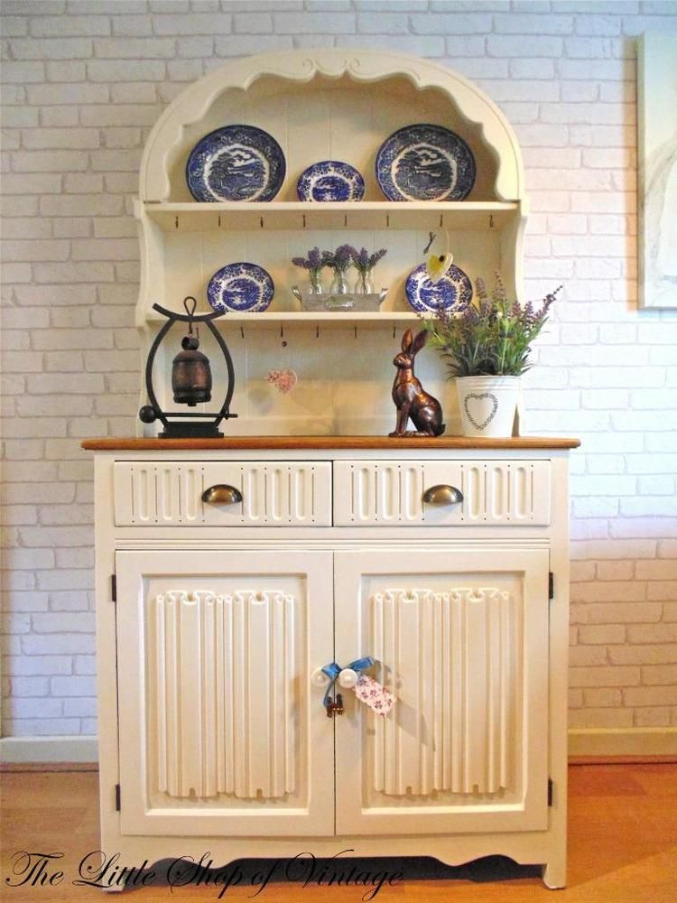 Wonderful Dutch Priory Dresser Painted Shabby Chic