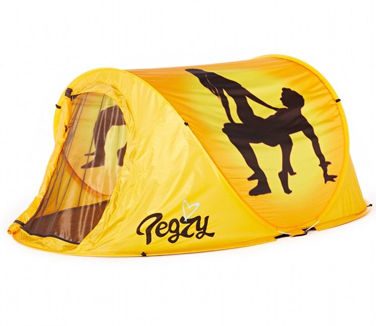 Pop-Up Tents | Pegzy Lovenest 2 Man Pop Up Funny Yellow Festival Tent  sc 1 st  Pinterest & Pop-Up Tents | Pegzy Lovenest 2 Man Pop Up Funny Yellow Festival ...
