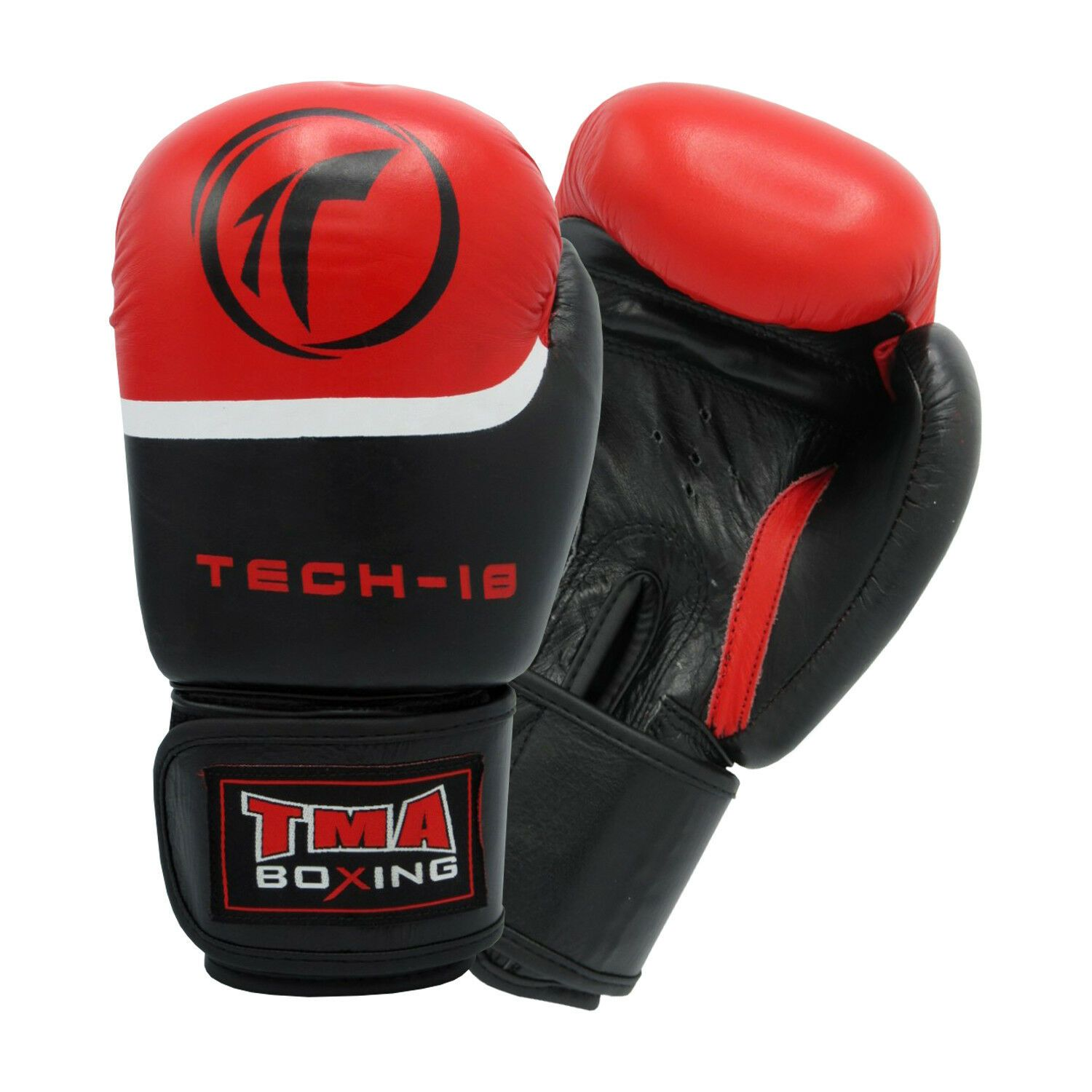 Ringside Stealth Leather Lace Up Boxing Gloves Black