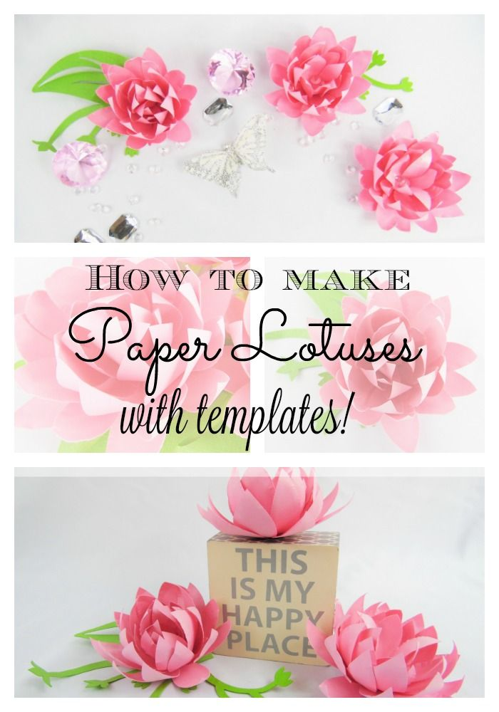 Easy diy paper flowers paper flower templates small diy flower diy paper lotus flowers instant download templates with video tutorial mightylinksfo