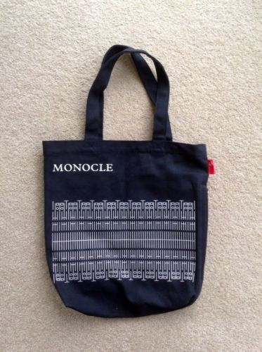 62843d636 Monocle Magazine Subscriber Only Heavy Canvas Tote Bag (Black ...