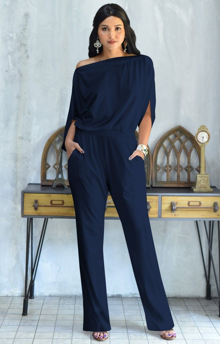 bf7422a5900e TERESA - Dressy Jumpsuits Cocktail Batwing Sleeve Classy Formal in ...