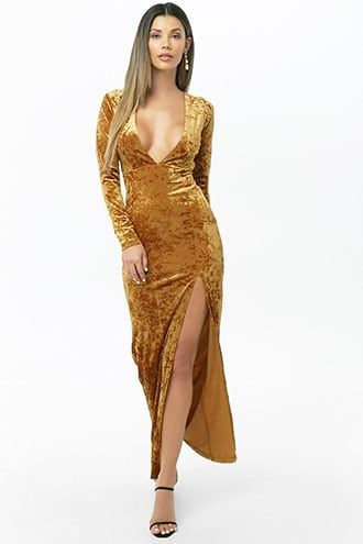 975494d4ff7 Crushed Velvet Maxi Dress
