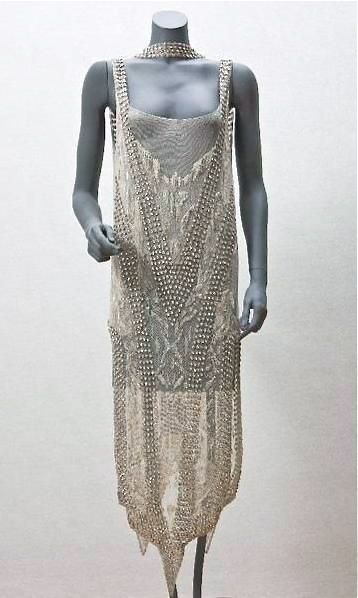 1922 - Callot Soeurs. Cotton, silk, glass, plastic.
