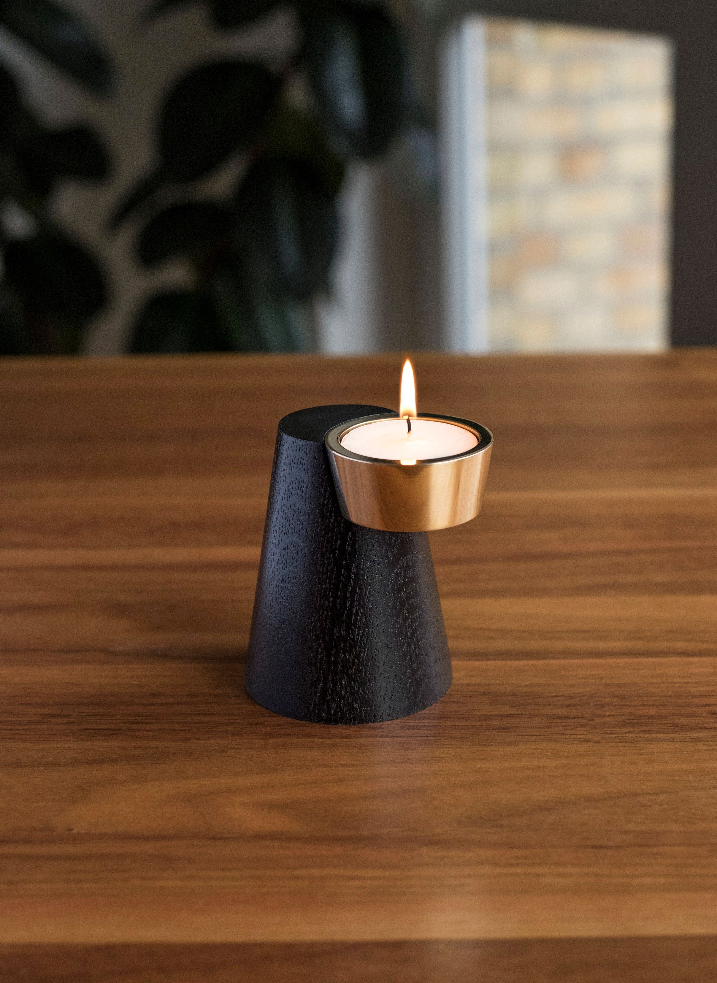 Wooden Candle Holder Faro By Caussa Design Andreas Kowalewski Candle Holders Wooden Candles Wooden Candle Holders