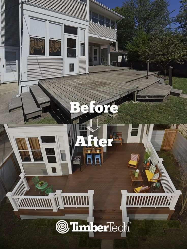 This Old And Worn-down Wood Deck Desparately Needed A