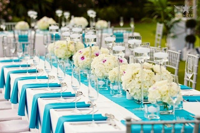 Wedding Reception Decorations Turquois Fix Turquoise Aqua Ideas